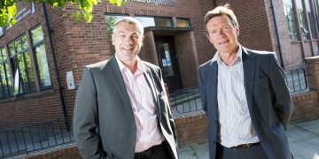 strong Watson Financial Planning Ltd Managing Director Iain Lightfoot and Tony Irving, Burnetts Independent Financial Adviser. Picture: Jenny Woolgar Photography