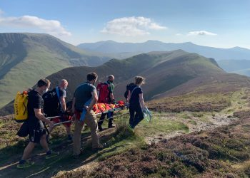 A 13-year-old walking with her family went over on her ankle while descending Ard Crags in the Newlands Valley. Picture: Keswick Mountain Rescue Team