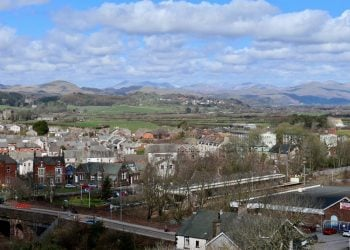 Looking over Millom on a sunny day