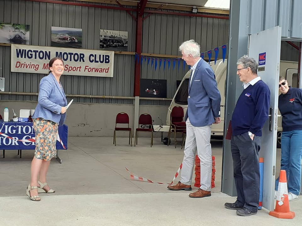 Trudy Harrison, Copeland MP, formally opens Wigton Motor Club's new headquarters