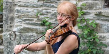 Cumbrian professional violinist Pamela Redman