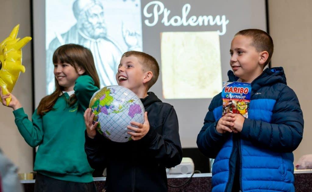 Primary school children participate in the Live Science Shows