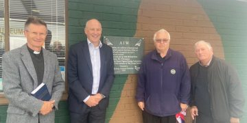 Carlisle MP John Stevenson joined city resident Stephen Glencross today in unveiling the plaque at Solway Aviation Museum.