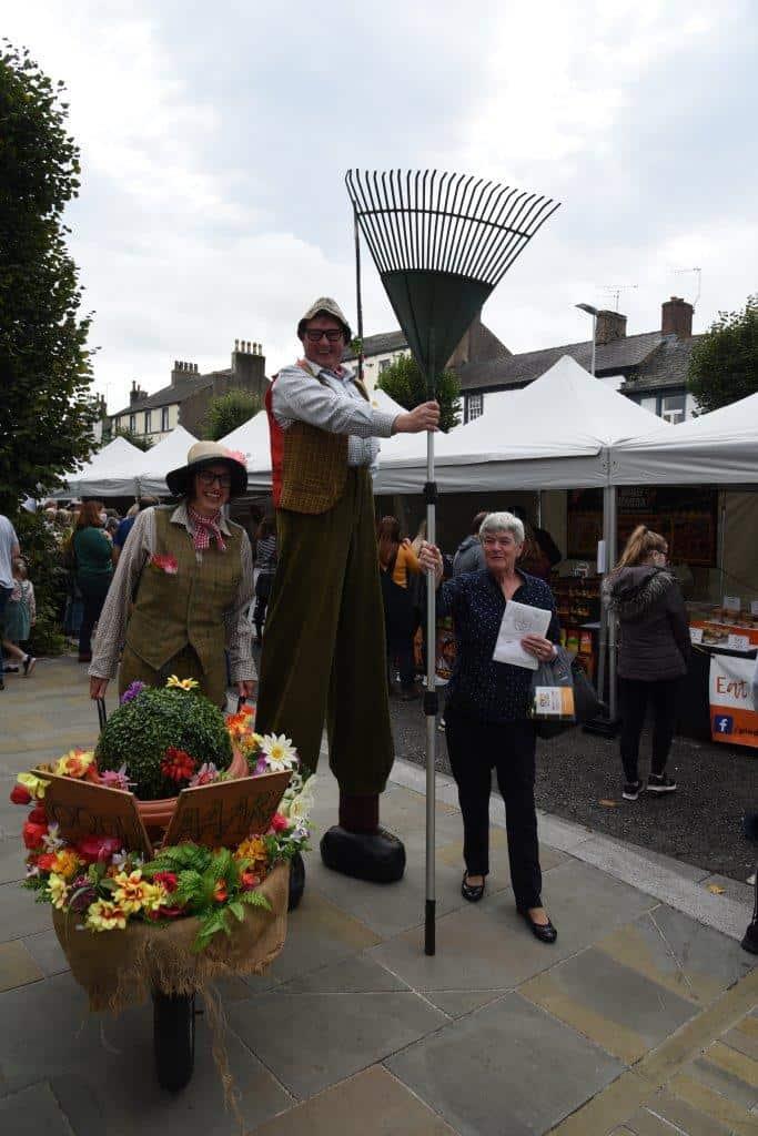 Street entertainment at Taste Cumbria