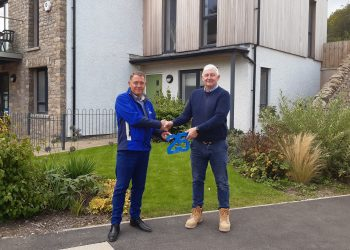 Stuart Brown and Mike Hillbeck have both worked at Russell Armer Homes for 25 years.