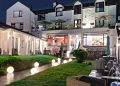 TheFisherbeck at night outdoor terrace garden