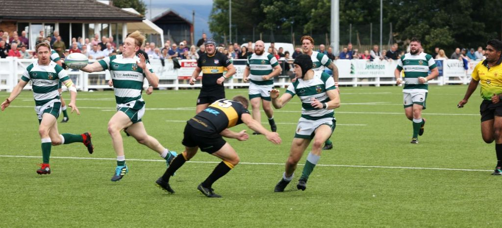 Tom Knowles taking the pass from Mike Fearon to score his 1st of 2 tries on his debut Picture David Nattrass