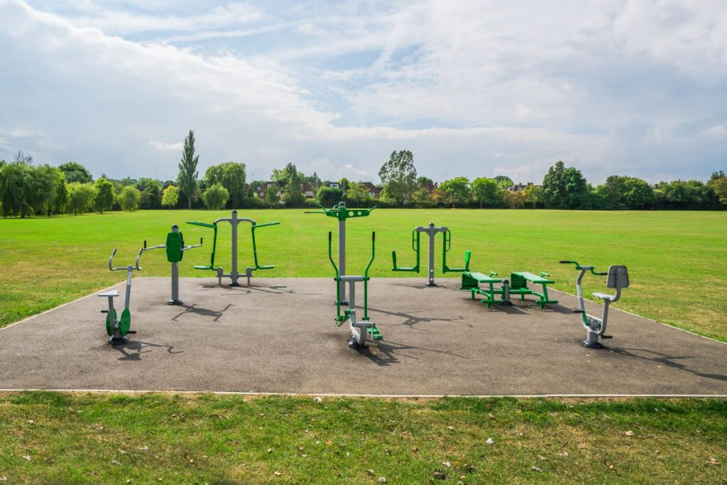 An example of an outdoor gym