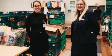 Stephanie Humes (left), manager at Carlisle Foodbank, with Helen Jelly, manager at Newcastle Building Society's Carlisle branch