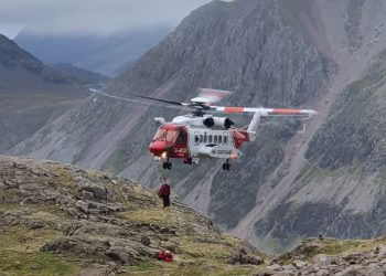 Fatality on Scafell Pike on October 6, 2021. Picture: Wasdale Mountain Rescue Team
