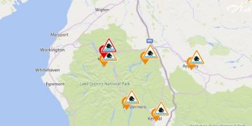 Flood alerts and warning in Cumbria