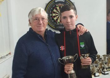 Jim Folley with Young Player of the Year Josh Foster