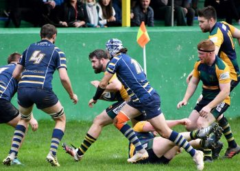 Keswick's Michael Tait charges forwards (Ben Challis)