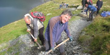 Upland path clearance Keswick Fell Care Day