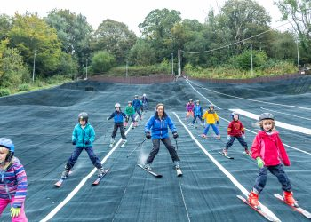 Young skiers demonstrating their skills at Kendal Snowsports Club