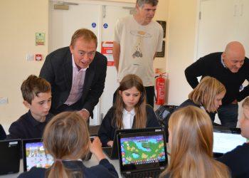 South Lakes MP Tim Farron at Crosthwaite CofE Primary School