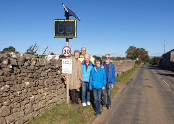 Judith Morris, Haydn Morris - Chairman of Sockbridge & Tirril Parish Council, Carol Ratledge, Brenda Clarke and Dave Howson - Police Support Volunteer