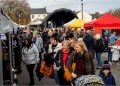 Visitors in the Producers' Market. Picture: Tom Kay