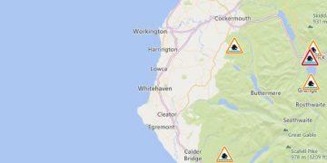 West Cumbria flood alerts