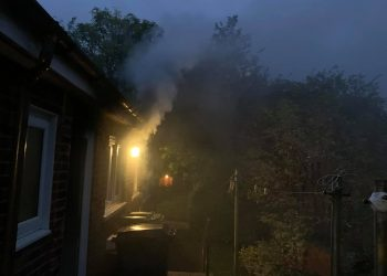 Fire at Mary Hannah Cottages. Picture: Carlisle East Fire Station