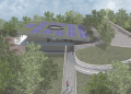 Computer generated image of the luge facility. Picture: Manning Elliott Partnership