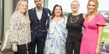 Gemma Brodie, Keith Bell, Rachael Bell, Pam Brown and Abigail O'Brien of Rachael Bell Wealth Management.