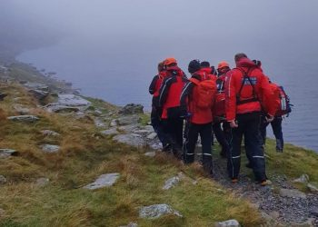 Eleven mountain rescue team members were called to rescue a man who fell and dislocated his knee. Picture: Coniston Mountain Rescue Team